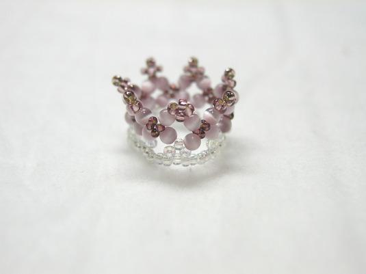 ティアラ風 キャッツアイ 指輪
