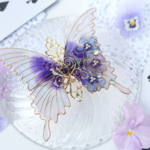 (A)アリスのラベンダーの蝶バレッタ(hair ornaments of butterfly 〜Alice's lavender〜).