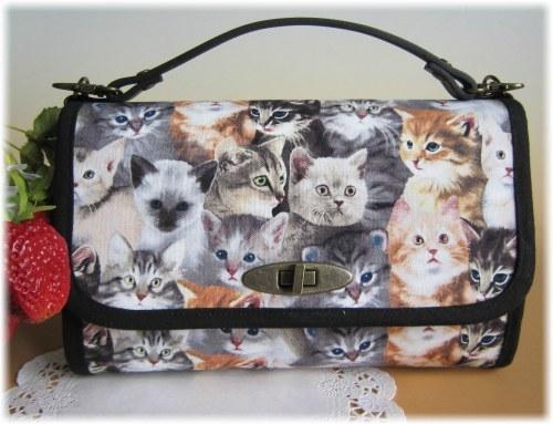 USAリアルキャット猫ぎっしりのお財布バック