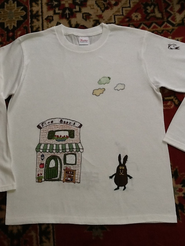 手刺繍のロングTシャツ