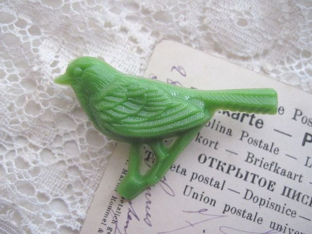 小鳥のブローチ*グリーン