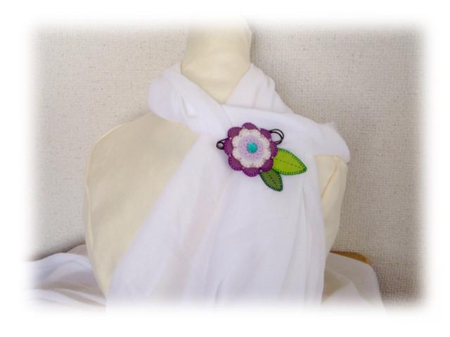 革花のピンブローチ−3