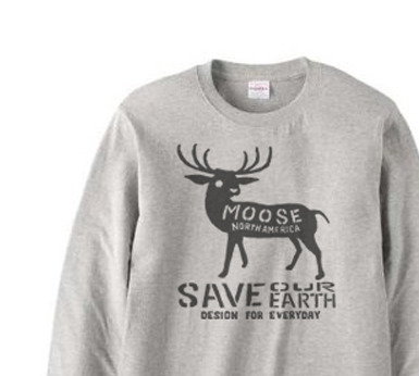 moose  長袖Tシャツ【受注生産品】