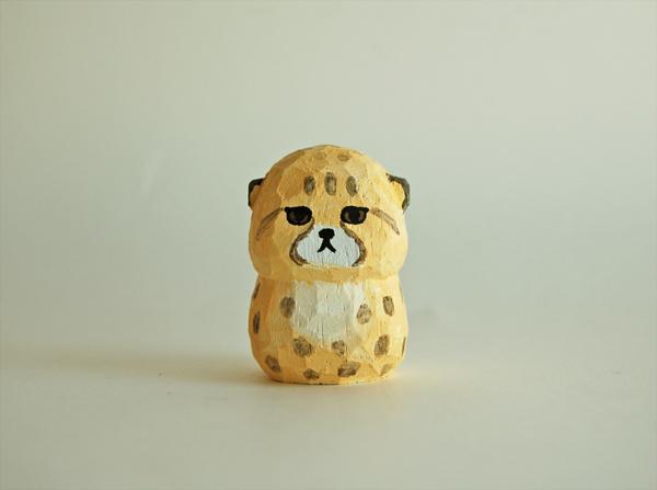 木彫り人形 チーターの子供  [MWF-113]