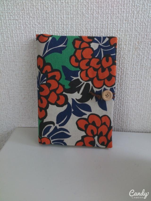 フラワー通帳.母子手帳ケース(オレンジ)