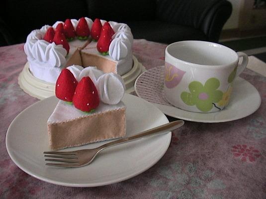 売り切れ【おまけ付き/送料無料】いちごのケーキ