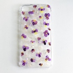 painting iPhone case flower (パンジー)/クリアスマホケース