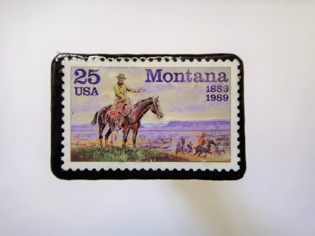 アメリカ 1989年切手ブローチ100