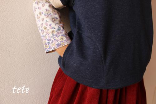 【size110】男女兼用☆デニムニットの半袖プルオーバー