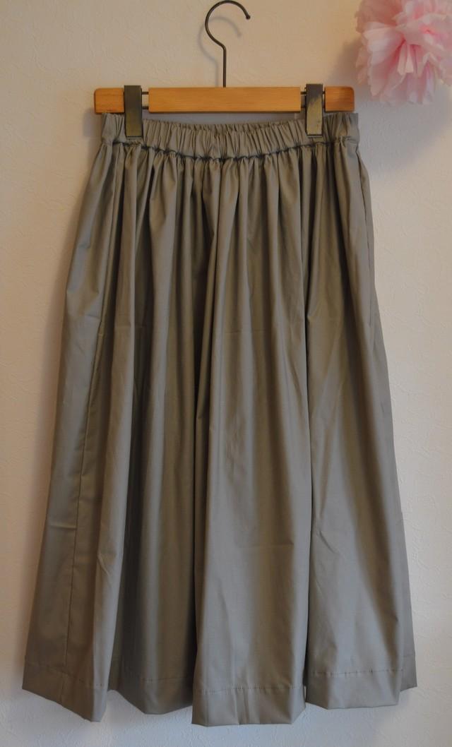 秋冬 ミモレ丈 ミリタリーカラー ギャザースカート for women