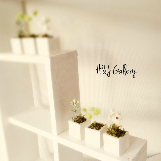 ☆小さな小さなちーさな植木鉢カントリー*白角