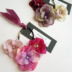 triple-flower hair accessories お花のヘアゴム