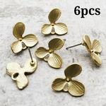 【chmm3858knz】【6個】matte color flower pierce parts