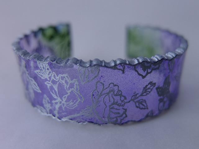 クリアバングル<薔薇(うす紫)>