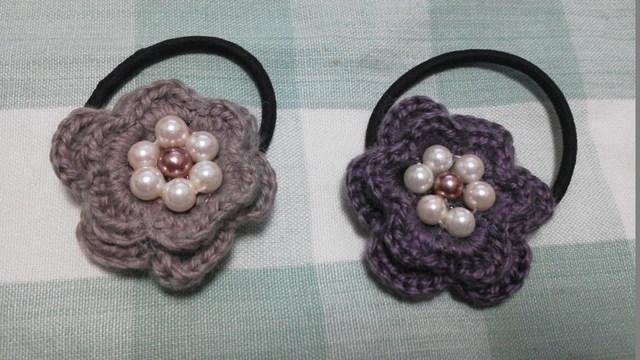 毛糸の花ゴム