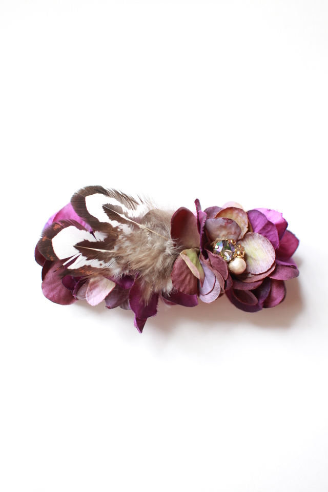 flower*barrette #112