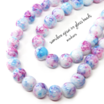 40pcs)samidare ajisai iro glass beads