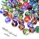 60pcs)hanabi iro glass beads