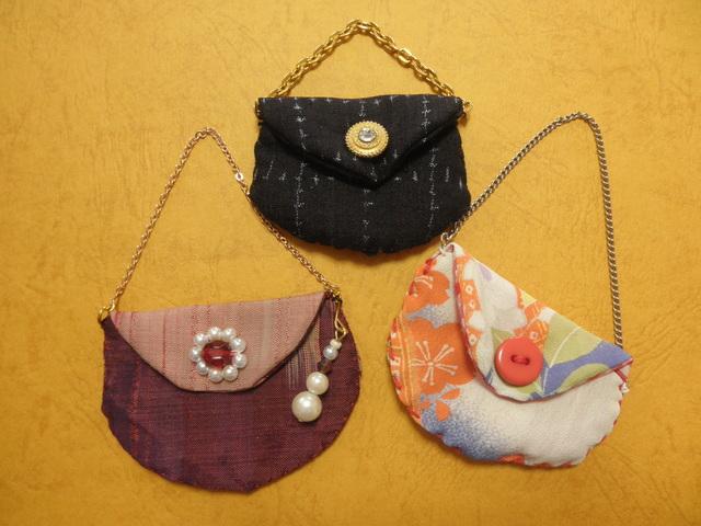 古布のバッグチャームコレクション「雪月花」
