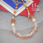 Pink Leaf Perlan Crochet Necklace <ODA 2020_0501>