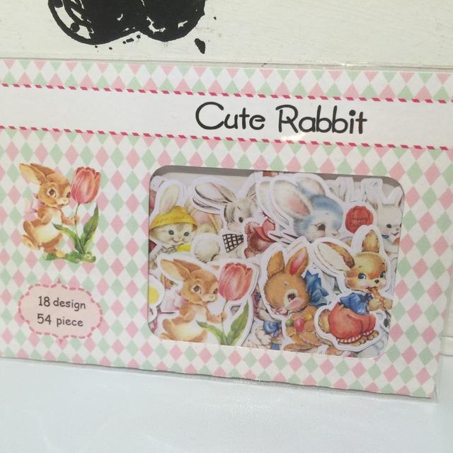 Cute rabbit フレークシール