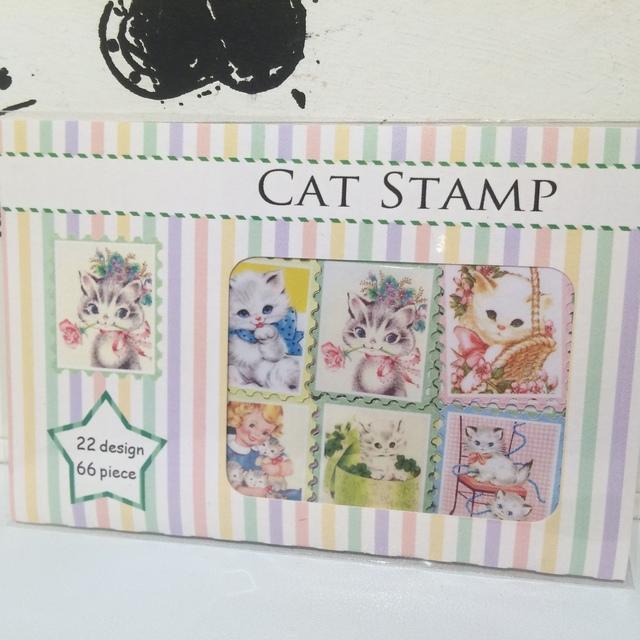 CAT切手フレークシール