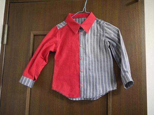 時にはきちんとしたシャツを  ハンドメイド120センチ用