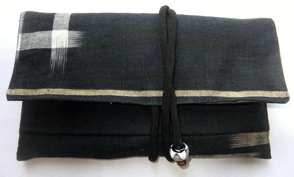 着物リメイク 絵絣で作った和風財布 627
