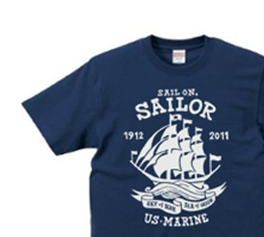 Sail On,Sailor★マリン XS〜XL Tシャツ【受注生産品】