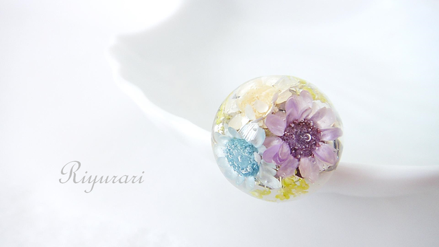 Flower Ring (purple)