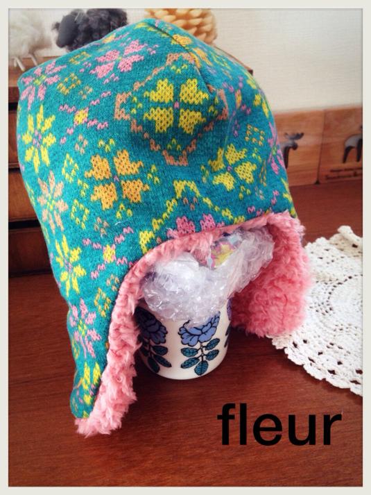 リバーシブルボア帽子 ★SALE★