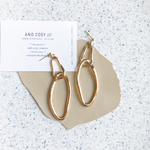 Double gold ring earrings [ピアス・イヤリング]