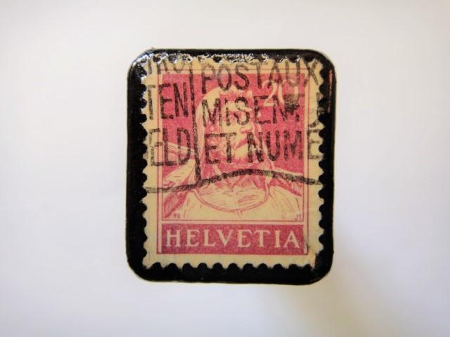 スイス 1921年「ウイリアムテル切手ブローチ」103