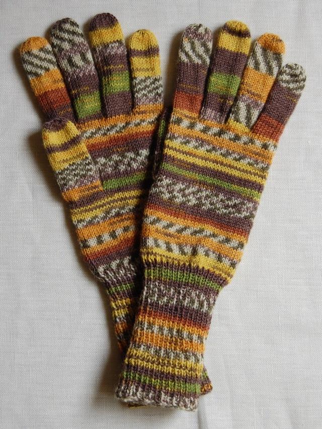 手編み5本指手袋 No.43