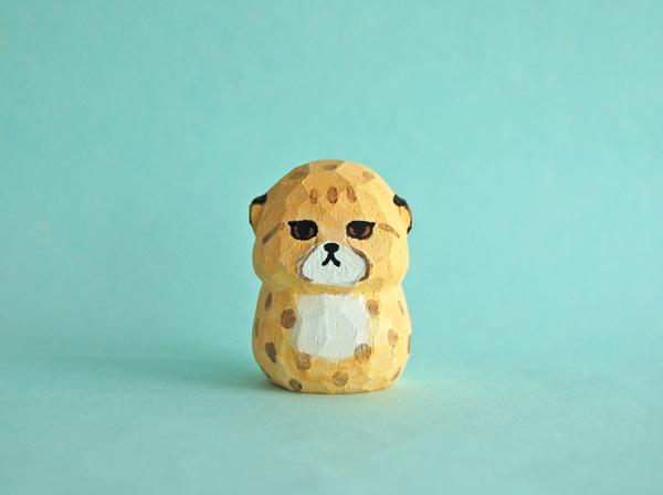 木彫り人形 チーターの子供  [MWF-121]