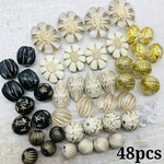 【数量限定】【brsr3874oripp】【Thanks.price】【48個】antique style beads set