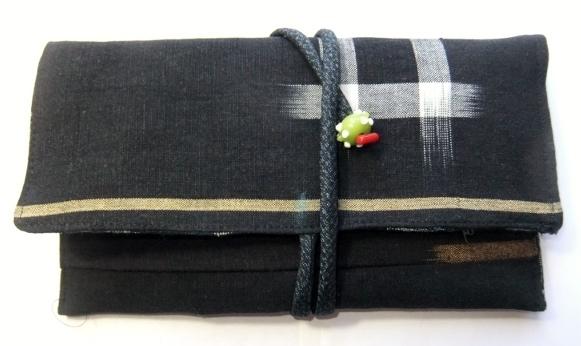 着物リメイク 絵絣で作った和風財布 632