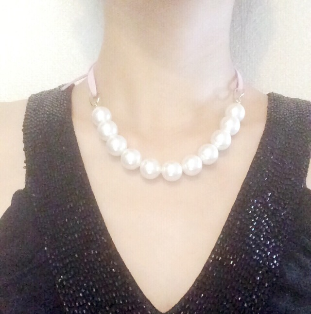 pearl necklace?sweet?全3色