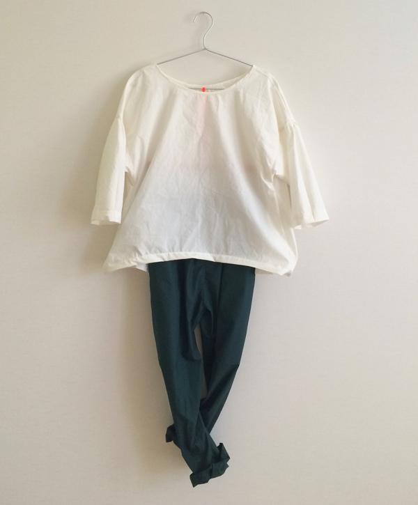 typewriter cloth  blouse  white