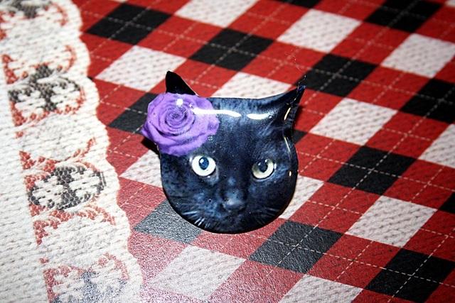 黒ネコ★ブローチ