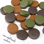 24pcs)wood coin beads set
