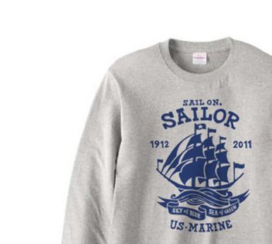 Sail On,Sailor★  長袖Tシャツ【受注生産品】