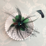 green♡tulle feather clip