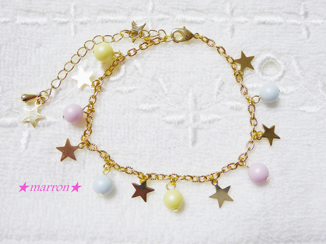 ★candy star★スワロパールブレスレット