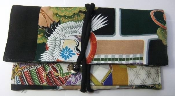 男の子のお宮参り着で作った和風財布 642