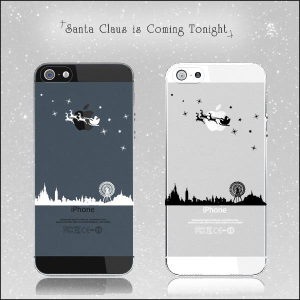 サンタがまちにやってくる♪クリスマスの夜の出来事ケース:iPhone7★iPhone各種選択可能♪iPhoneケース スマホケース