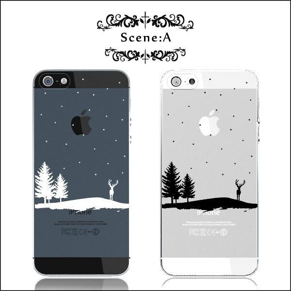 ◆Silent Night◆雪の上に佇むトナカイのケース:iPhone7★iPhone各種選択可能♪iPhoneケース スマホケース