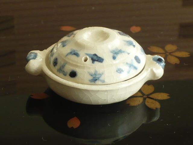 ミニチュア陶器★染め付け 土鍋 星つなぎ
