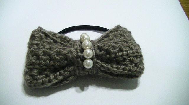 毛糸のリボンゴム