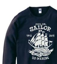 Sail On,Sailor★マリントレーナー【受注生産品】